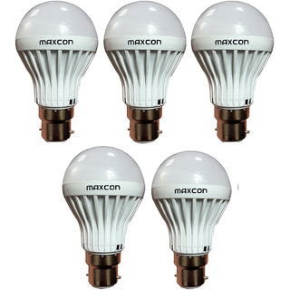 Cool White LED Bulb 5W (Pack of 5) Image