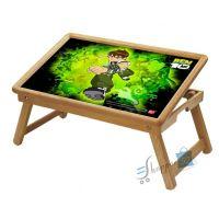 Ben 10 Multipurpose Foldable Wooden Study Table For Kids - Study 1014