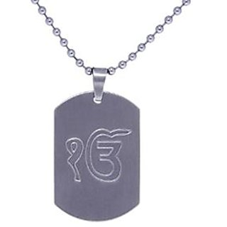 Buy ik onkar 18k white gold plated pendant with chain s 08 online ik onkar 18k white gold plated pendant with chain s 08 aloadofball Images