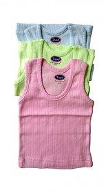 Imported Childhood Coloured Baby Vest Set of 3