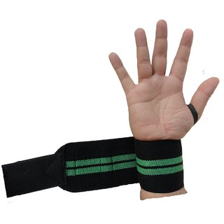Kobo Power Wrist Weight Lifting Training Gym Straps With Thumb Support Grip Glove Body Building