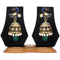 Zaveri Pearls Pretty Peacock Designer Earring -ZPFK320