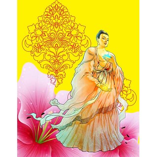 Mesleep Yellow Buddha Canvas