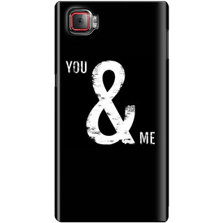 The Fappy Store You-&-Me-1 Plastic Back Cover For Lenovo K920