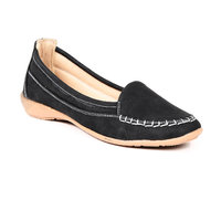 TEN Womens Black Slip on Loafers
