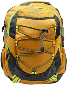 Donex Yellow & Grey Color Stylish Light Weight 28 Litre Laptop Backpack RSC00667