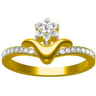 baa4bf5b6 Buy Sakshi Jewels 3.05 Gram 18K Gold 0.26 Carat VVS-FG Diamond Ring.  (ShopSR535) Online - Get 8% Off