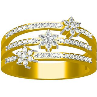 Sakshi Jewels 4.25 Gram 18K Gold 0.44 Carat VVS-FG Diamond Ring. (ShopSR493)
