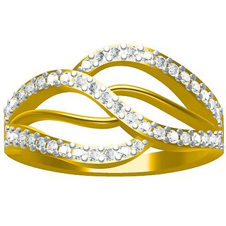 Sakshi Jewels 3.44 Gram 18K Gold 0.44 Carat VVS-FG Diamond Ring. (ShopSR532)