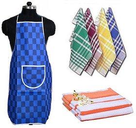 Combo - Kitchen Apron, 2 Hand towel  6 Napkin