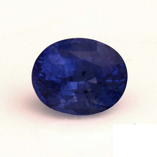5.15 Ratti  Blue Sapphire Neelam Free Silver Plated Coin