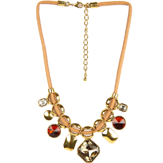 Helena Multi Stone Tube Necklace