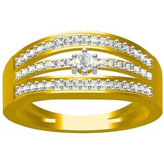 Sakshi Jewels 3.51 Gram 18K Gold 0.36 Carat VVS-FG Diamond Ring