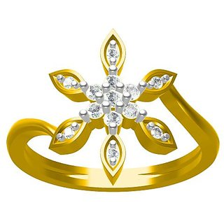 Sakshi Jewels 3.06 Gram 18K Gold 0.21 Carat VVS-FG Diamond Ring
