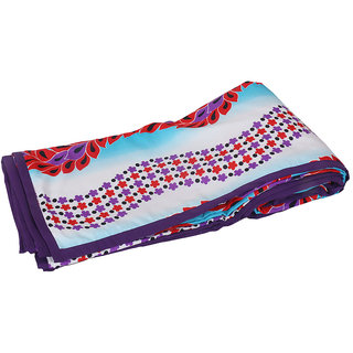 IndiWeaves Micro Fiber  Dohar/Ac Blanket  set for Double Bed (1 piece)- Blue