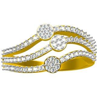 Sakshi Jewels 4.19 Gram 18K Gold 0.55 Carat VVS-FG Diamond Ring