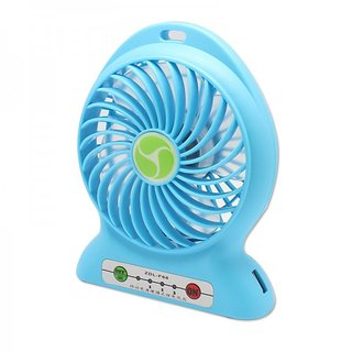 Callmate Mini Fan with 2600 MAH Power Bank - Sky Blue
