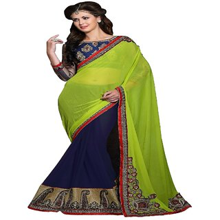HALF & HALF WORK SAREE