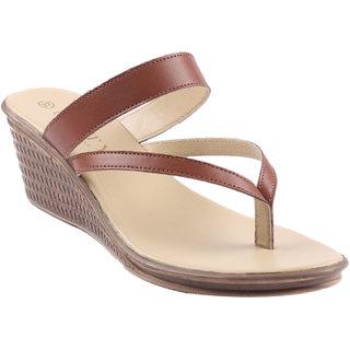 Glety Tan Medium Heel Slip-on