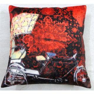 valtellina India Rikshaw Photography 3D Digital Cushion Cover(DGC_16X16_008)