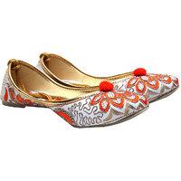 Port Ladies Orange Punjabi Jutti