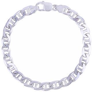 ( Aashirwad) Men Silver Bracelet For Trendy Design