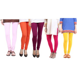 Women Leggins Set Of 5
