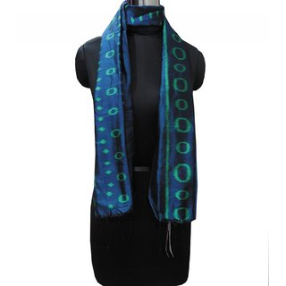 blue and black silk stole