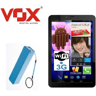 VOX V105 ANDROID KITKAT CALLING TABLET WITH 2000mAh PowerBank