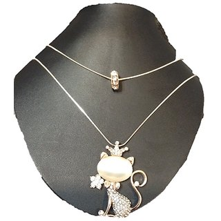 AD jewels pendant with double chain