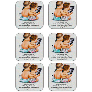 meSleep Little Sister Wooden Coaster-Set of 6