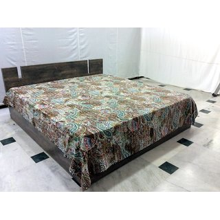Cotton queen size bedsheet, By Bhavya international