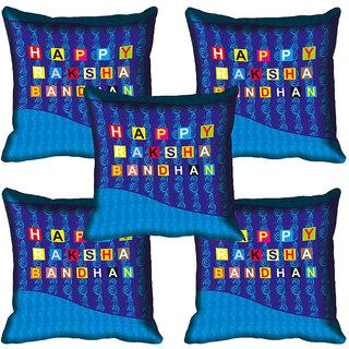 meSleep Happy Raksha Bandhan Cushion Cover (16x16)