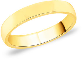 Peora Sterling Silver 18 Karat Gold Plated Elegant Classic Engagement Wedding Band Ring Pgr2678