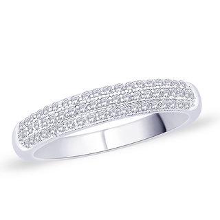 Peora Silver Cubic Zirconia Ring Pr5034