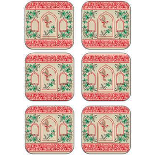 meSleep Ethnic Pattern Wooden Coaster-Set of 6