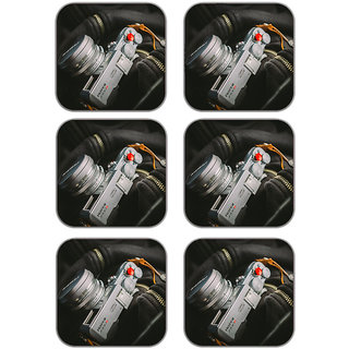 meSleep Camera Wooden Coaster-Set of 6