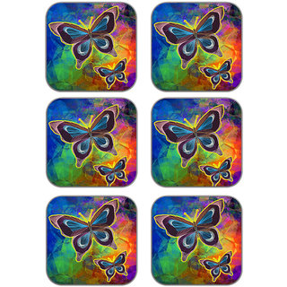 meSleep Butterfly Wooden Coaster-Set of 6