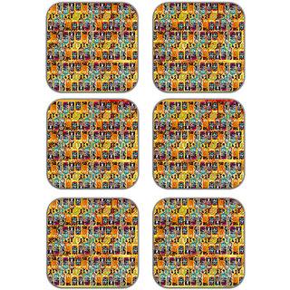 meSleep african Art Wooden Coaster-Set of 6