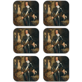 meSleep Man Wooden Coaster-Set of 6