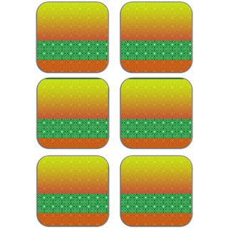 meSleep Abstract Wooden Coaster-Set of 6
