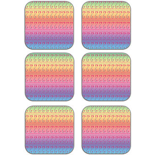 meSleep Love Paisley Wooden Coaster-Set of 6