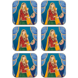 meSleep Lady Wooden Coaster-Set of 6