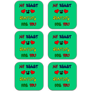 meSleep Heart Beating Wooden Coaster-Set of 6