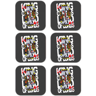 meSleep Playing Card Wooden Coaster-Set of 6