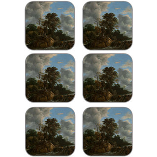 meSleep Landscape Wooden Coaster-Set of 6