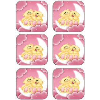 meSleep Teddies Wooden Coaster-Set of 6