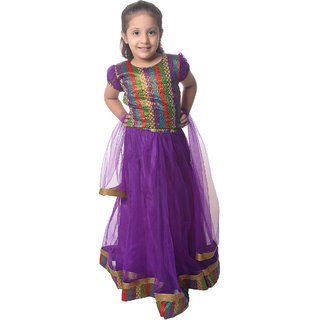 Nitara Kids Lehenga Choli with Dupatta - Purple