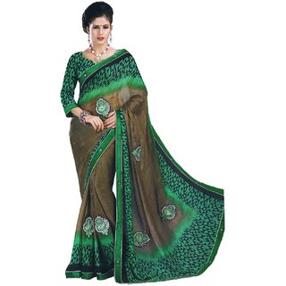 Savita Fashion Embriodered, Printed Fashion Chiffon Saree
