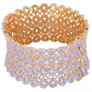 JNB Jewellers American Diamond Bridal look Broad Bracelet